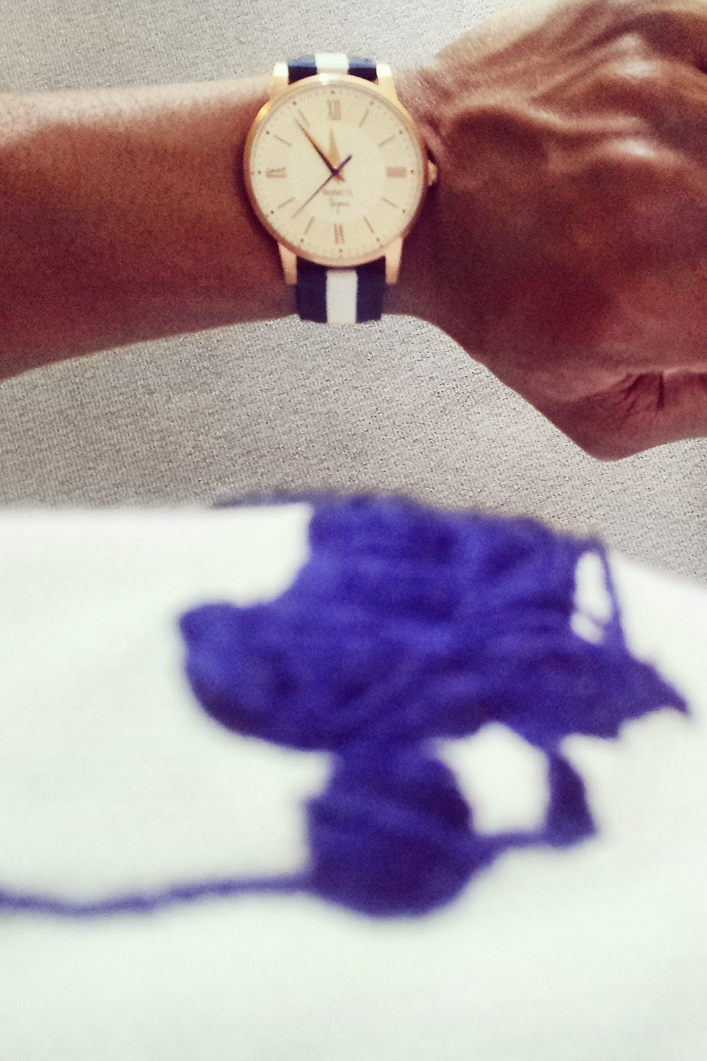 Ralph lauren polo with preppy nautical fashion watch band