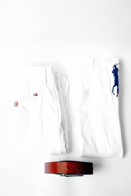 preppy nautical sailing whites with tan belt